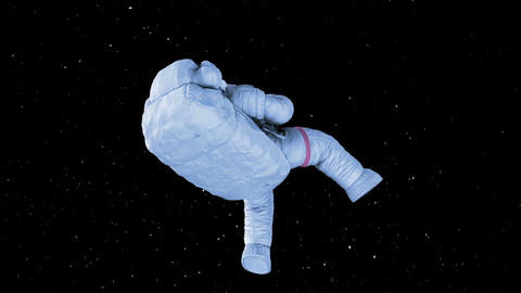 Spinning Astronaut. seamless looping 3d animation on a green screen Animation