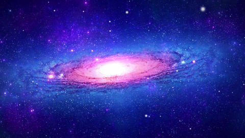 Journey Through spiral Galaxy in the Universe Live Action