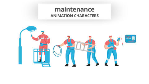Maintenance - Character Set After Effects Template