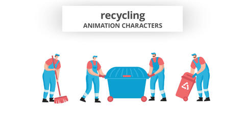 Recycling - Character Set After Effects Template