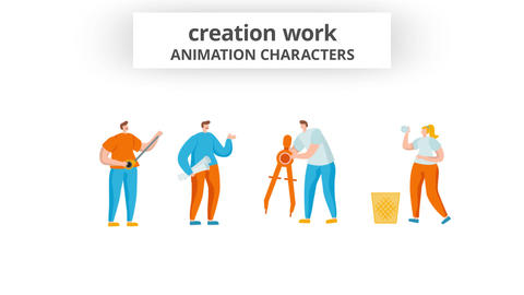 Creation work - Character Set After Effects Template