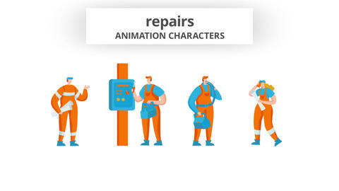 Repairs - Character Set After Effects Template