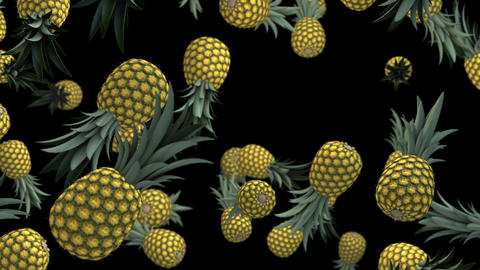 Pineapple fruits loop animation Videos animados
