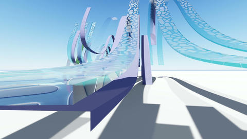 Abstract architecture concept of organic architecture animation and rendering 15 Live Action