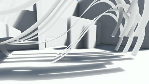 Abstract architecture concept of organic architecture animation and rendering 3 Live Action