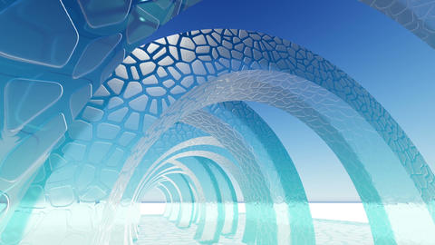 Abstract architecture concept of organic architecture animation and rendering 14 Live Action