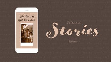 Polaroid Stories Vol 1 After Effects Template