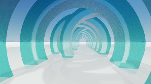 Abstract architecture concept of organic architecture animation and rendering 17 Live Action