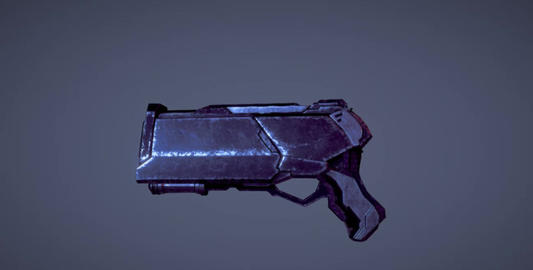 Sci fi gun with metal 3D Model