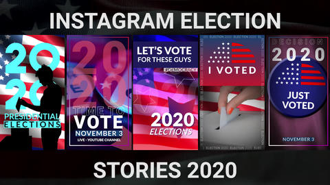 Election Stories After Effects Template