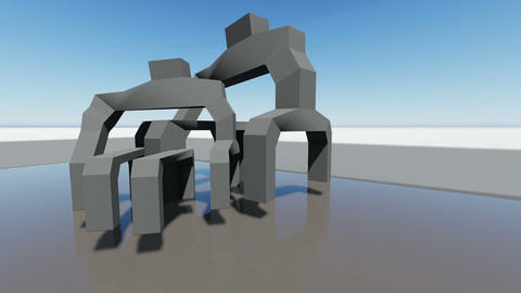 Abstract architecture concept of organic architecture animation and rendering Live Action