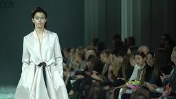 Girl coat fashion show Footage