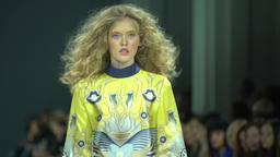 Model shows clothes at the fashion show Footage
