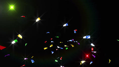 Confetti 3 Slant Fix 2XB 4K CG動画素材