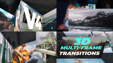 3D Multi-Frame Transitions v4 After Effects Template