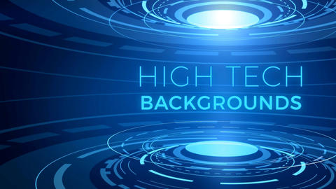 High Tech Backgrounds モーショングラフィックステンプレート