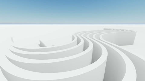 Abstract architecture concept of organic architecture animation and rendering 5 Live Action