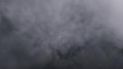 Fly in Dark Grey Clouds Animation