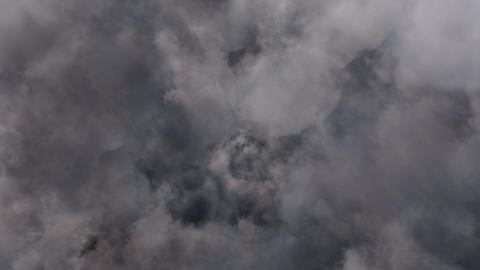 Fly in Overcast Grey Clouds Animation