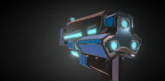 laser metal Sci fi gun 3D Model