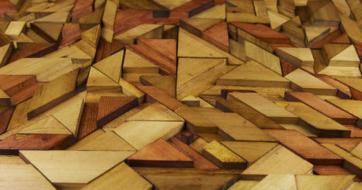 Zoom of a wooden panel. Modern wooden background for your design Live Action