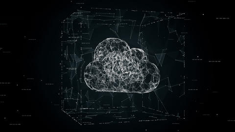 Cloud computing concept animation cloud technology background cloud storage cloud symbol placed in Live Action