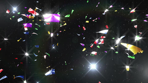 Confetti 3 LookUp Fix 4LB 4K CG動画素材