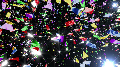 Confetti 3 LookUp Fix 4MB L 4K CG動画素材