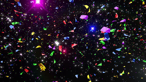 Confetti 3 LookUp Fix 6MB 4K CG動画素材