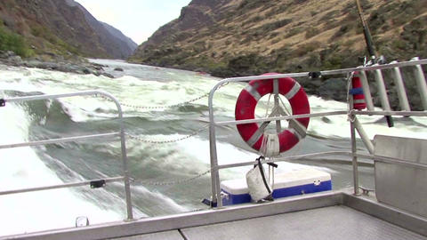 Idaho Hell's Canyon Turbojet boats riding upstream segment 2 Live Action