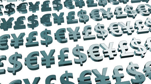 Currencies Background and Business Finance Rates Concept Animation