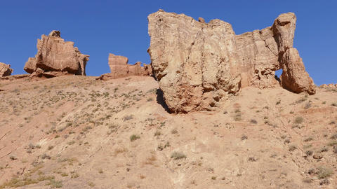 Charyn Canyon Panorama 4K Footage