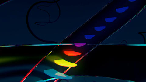 Neon tower with growing multicolor steps scrolling endlessly Animation