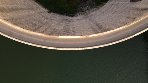 Aerial shot of the Salmon Falls Dam in Southern Idaho Live Action