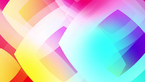 Slow motion of colourful shapes video background glassy and transparent circular shapes 6 Live Action