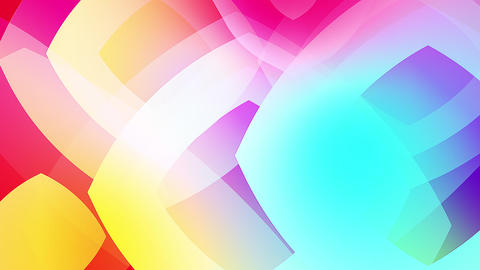 Slow motion of colourful shapes video background glassy and transparent circular shapes 7 Live Action
