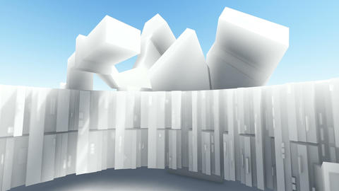 Abstract architecture concept of organic architecture animation and rendering 8 Live Action