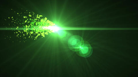 green yellow leaves glow light particle animation 動畫