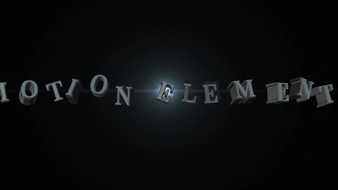 Text animetion element3D After Effectsテンプレート