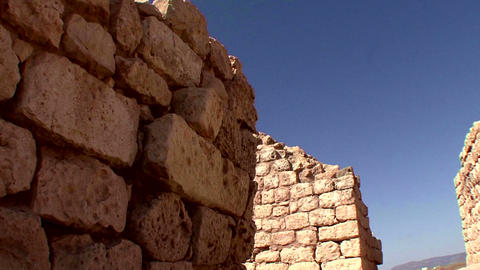 Sunhuram ruins nearby Salalah Oman Footage