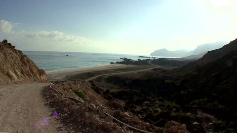 Oman scenery mountainside and seaside Footage