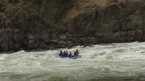 Idaho Hells Canyon Rafting on the rapids 1a Footage