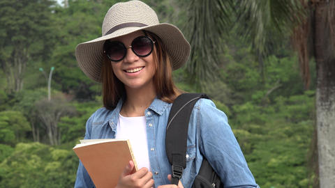 Female Student With Sunglasses Live Action