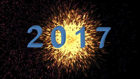 Happy New 2017 Year Animation