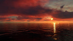 Sunset Over the Ocean Animation