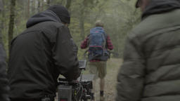 The actor plays the role of a tourist in the woods. Backstage filming Footage