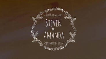 9 Drawing Wedding Titles After Effects Project