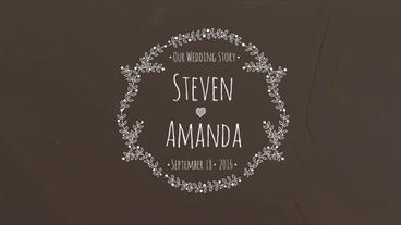 9 Drawing Wedding Titles After Effects Template