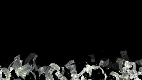 America USA dollar particle light line animation 動畫
