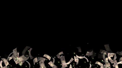 Japanese yen particle light line animation 動畫